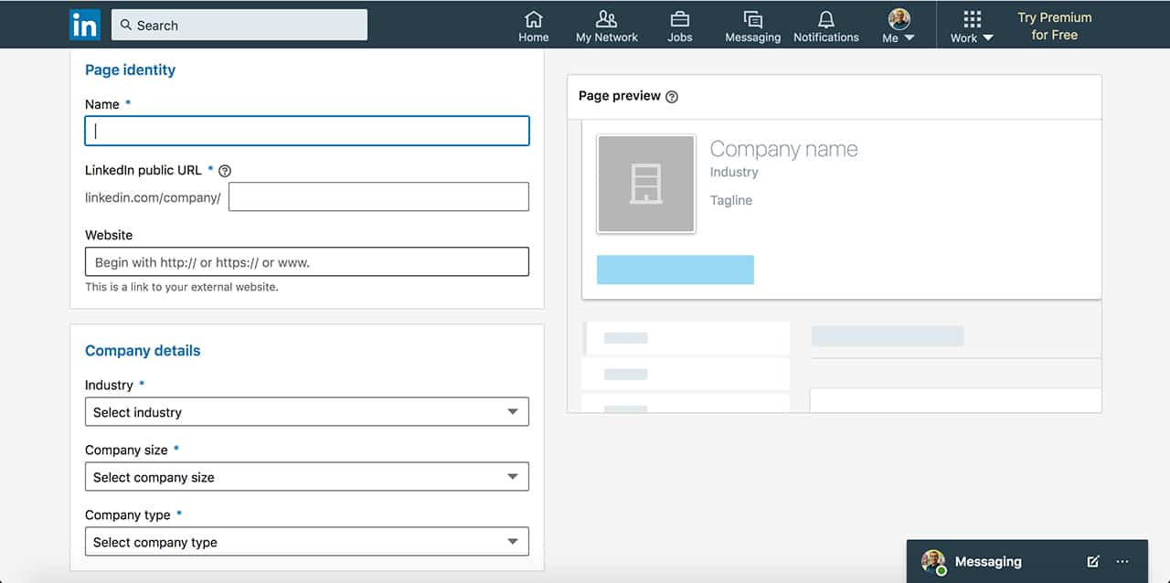 step 4 how to create a linkedin business page