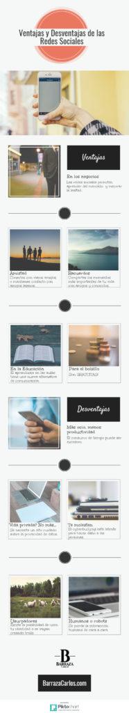 Ventajas y desventajas de las redes sociales infografía