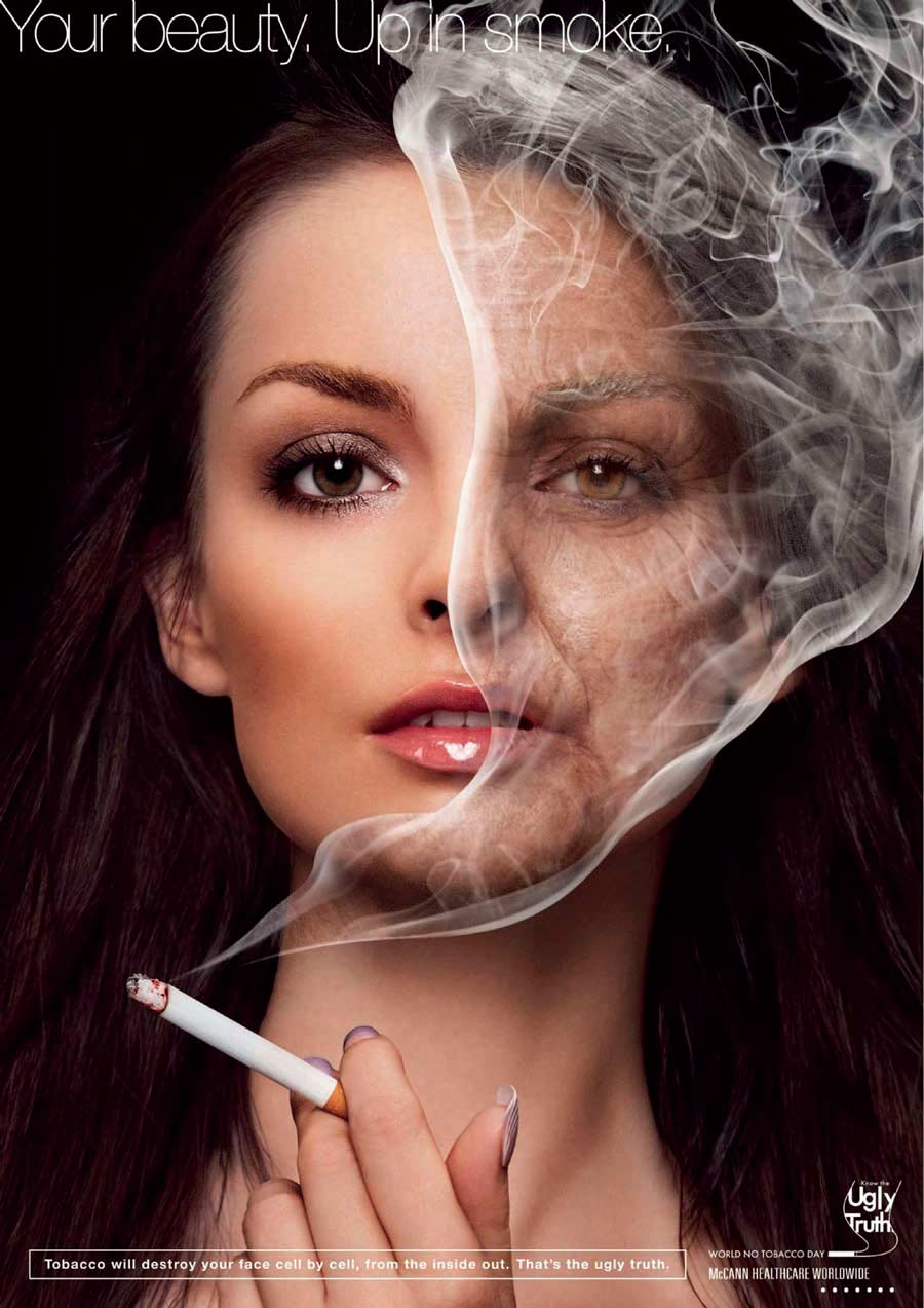 Social advertising women smoking