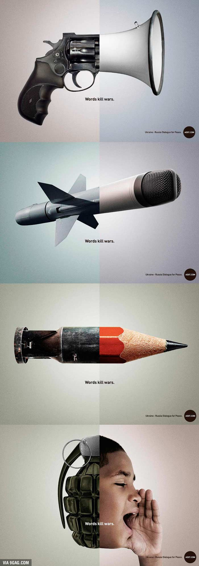 words kill wars social advertising
