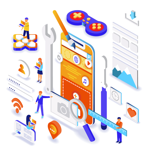 isometric image digital marketing