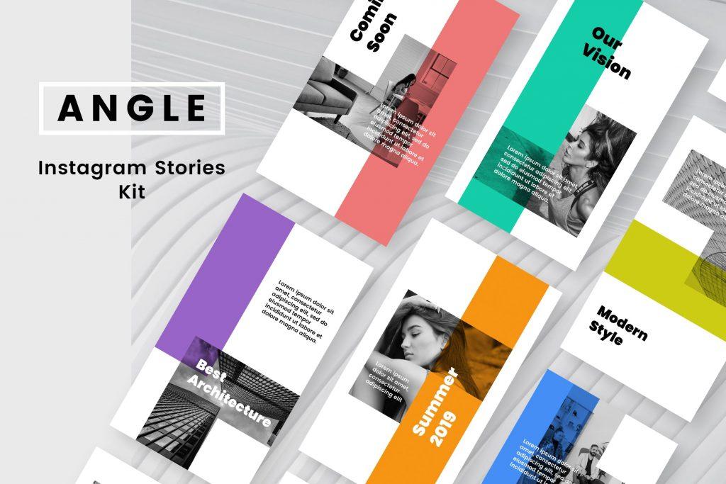 Instagram Stories Templates PSD Kit