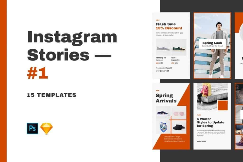 Instagram Stories Templates for PSD