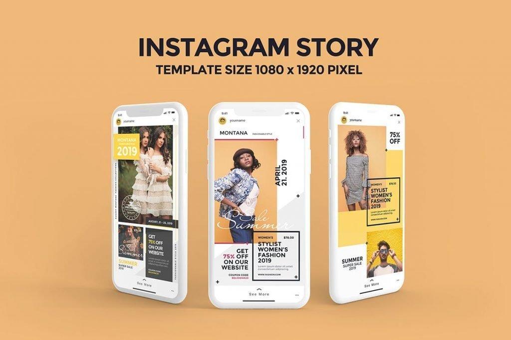 Instagram Story Fashion Templates PSD