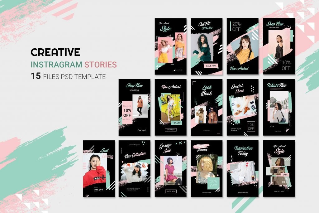 Instagram Story Template PSD Files